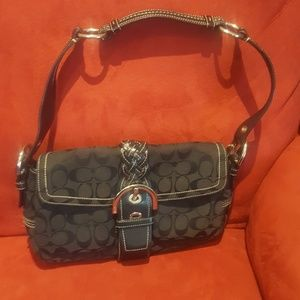 black coach signature bag